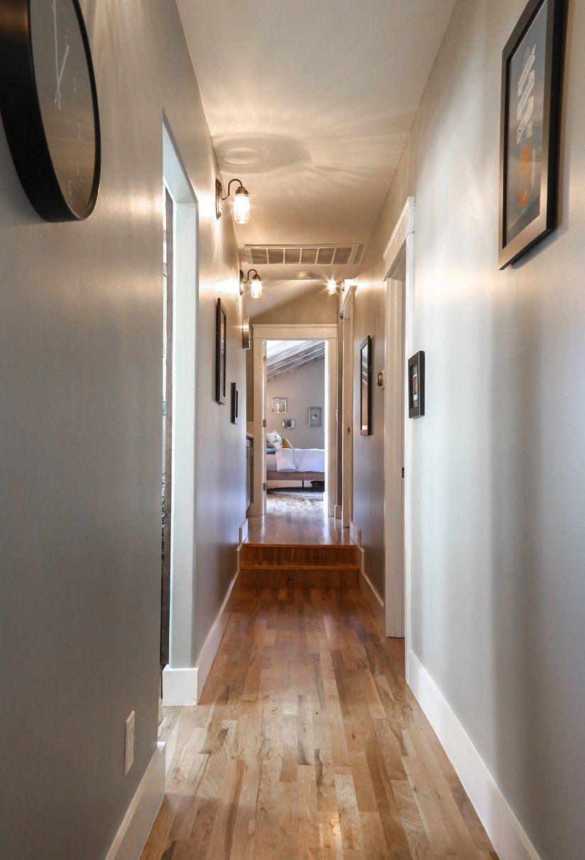 Hallway lighting modern  House Tour A Modern Silver Lake Bungalow  Hallways  Pinterest