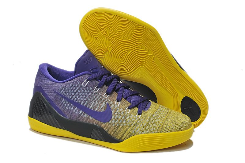 Nike Kobe 9 Elite Low Black Yellow Purple