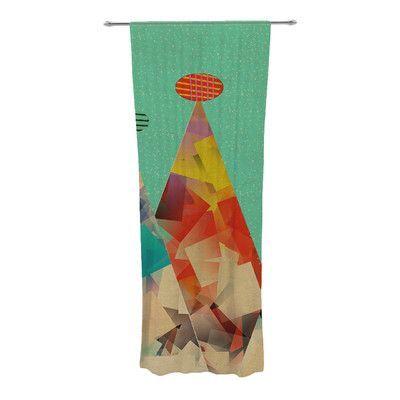 KESS InHouse Rainbow Peaks Curtain Panels