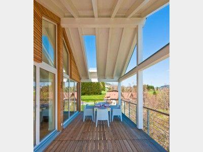 aussenansicht kohaus green mit berdachtem balkon an der giebelseite perfekt f r gem tliches. Black Bedroom Furniture Sets. Home Design Ideas