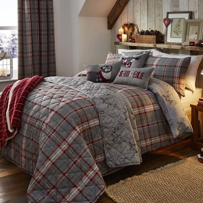 Ludlow Check Bedding Set In Silver Terrys Fabrics Uk Traditional Bedding Sets Quilt Sets Bedding Duvet Cover Sets