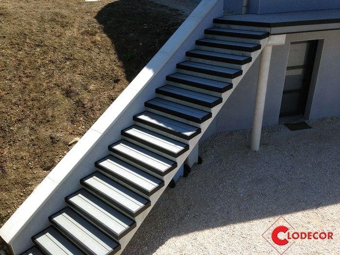 realiser un escalier en lames composites Océwood® Terrasses