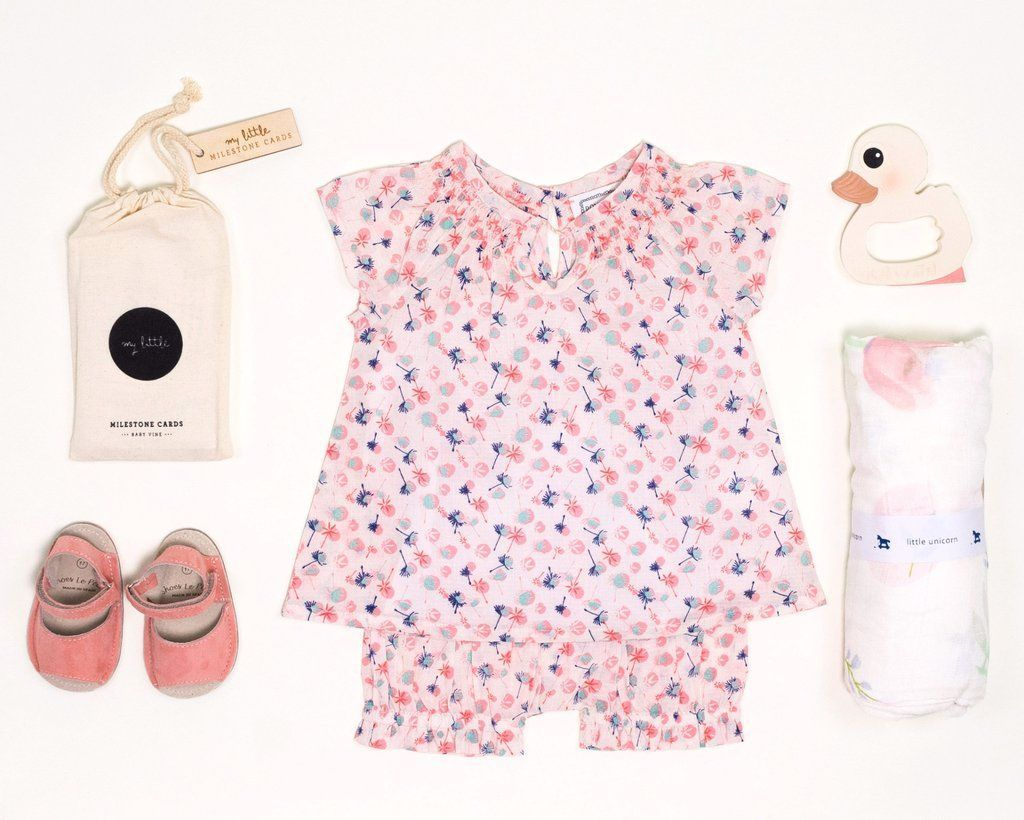 4e6db44817b0 Love this liberty print baby blouse and bloomer short at Bonjour Baby  Baskets