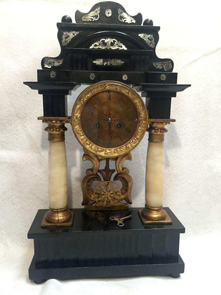 Antico orologio a pendolo da tavolo del xix secolo perfettamente funzionante orologio tavolo - Orologio a pendolo da tavolo ...