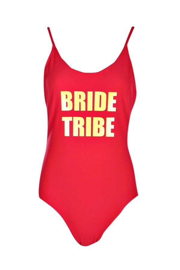 19d5346a2c Boohoo Oia Lifeguard Off Duty Slogan Scoop Swimsuit ( 35) ❤ liked ...