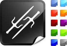 Traditional Ninja knifes internet royalty free vector art vector art illustration