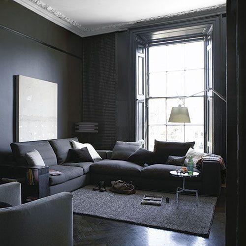 Grijze woonkamer in Georgiaans herenhuis - interieur 1 | Pinterest ...