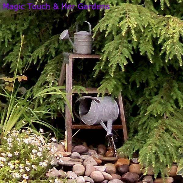 Great garden party ideas: Let your garden fountain provide natural music via http://magictouchandhergardens.wordpress.com