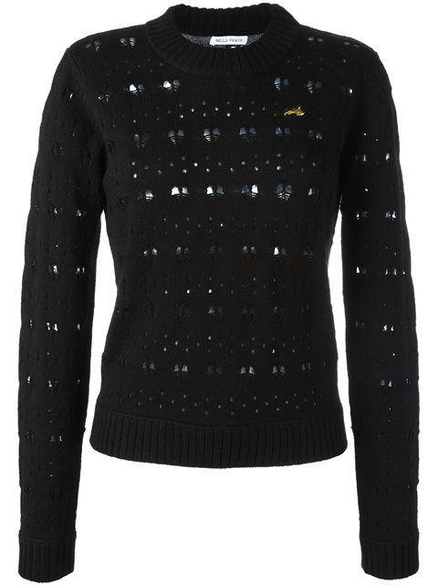 BELLA FREUD heart lace jumper. #bellafreud #cloth #心形蕾丝毛衣