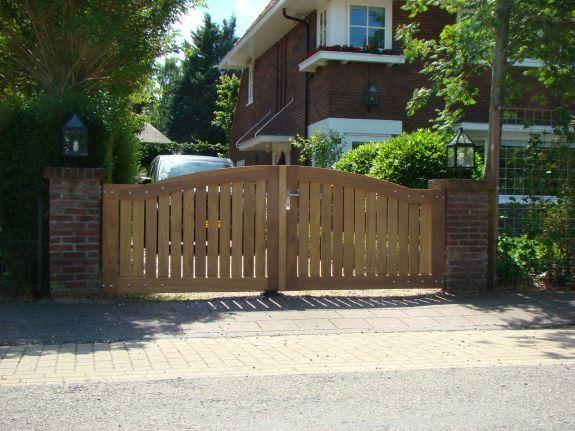 Hekwerk Hout Tuin : Hardhouten poorten u houten poort op maat solidwoodprojects