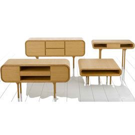 Heal's   2010 Contour Coffee Table Square Oak by Samuel Chan - Coffee Tables - Occasional Tables - Furniture