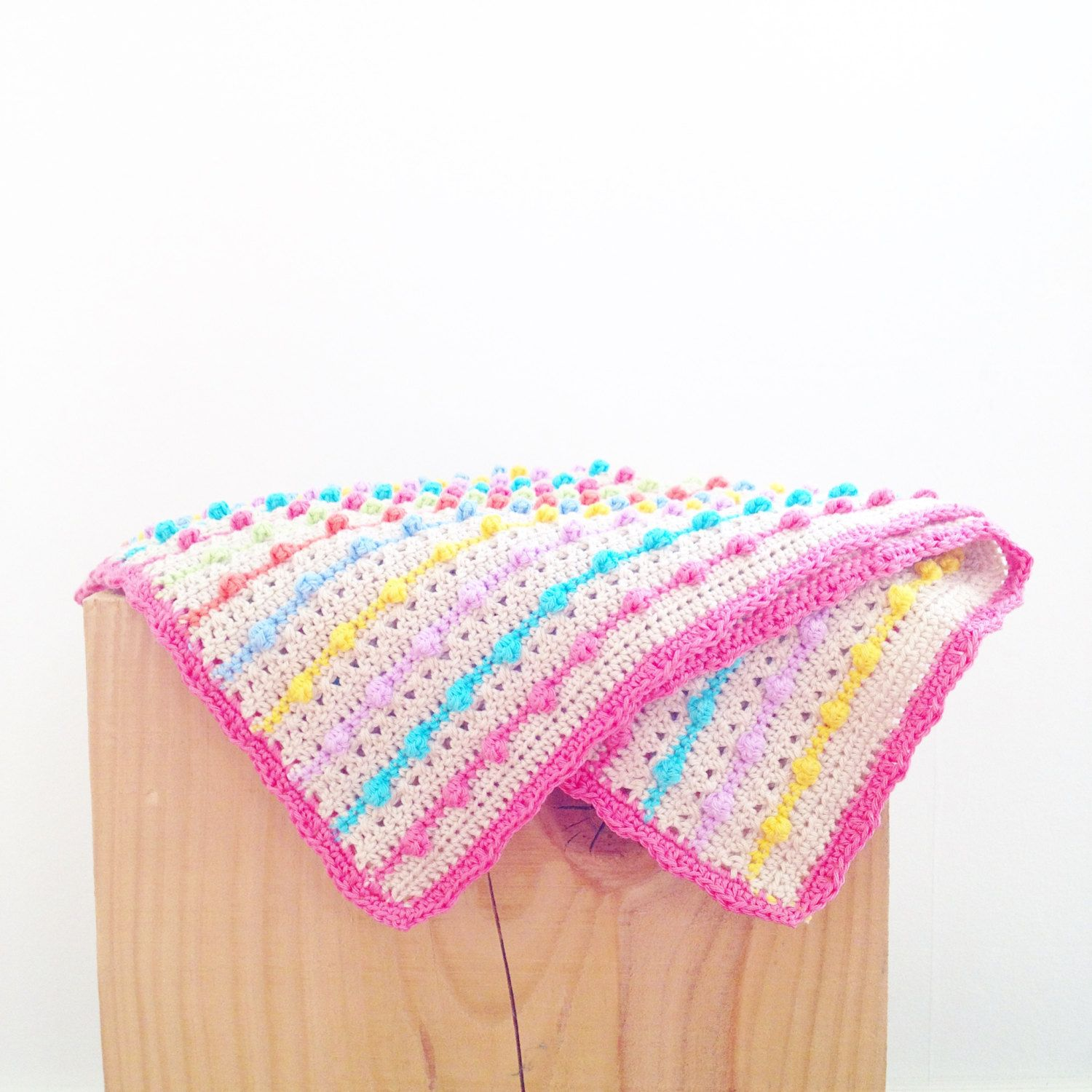 Crochet Bobble Stitch Blanket Pattern | MANDALA CROCHET GRANNYS ...
