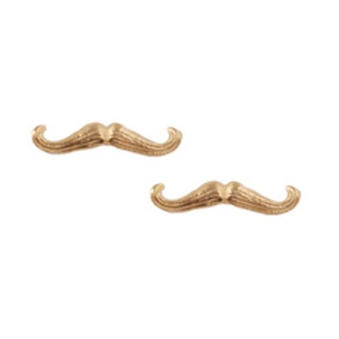 Totes rocking these Giles & Brother 'tash' earrings come Movember.