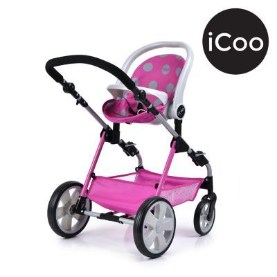 I'coo Grow With Me Doll Playset Stroller Bassinet And High ...
