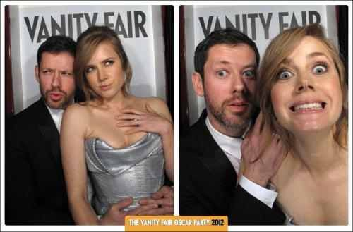 So they put up this photo booth at the oscar ceremotion party. Don't take life too seriously. You'll never get out alive.