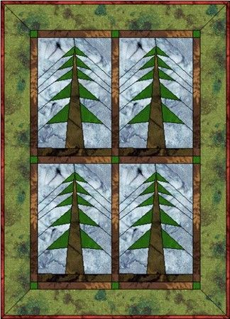 FREE Paper-Piecing Patterns PG3 | QUILTING | Pinterest | Paper ... : pine tree quilts - Adamdwight.com