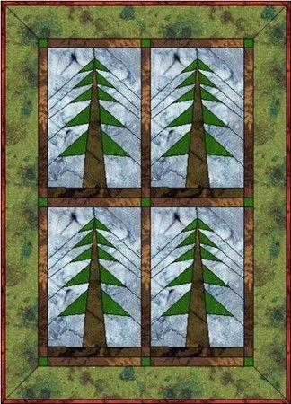 FREE Paper-Piecing Patterns PG3 | QUILTING | Pinterest | Paper ... : pine tree quilt block - Adamdwight.com