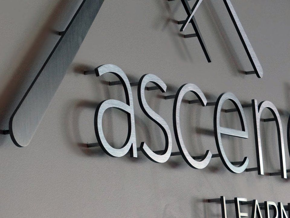 ascend learning flat cut out aluminum letters leawood ks yelp