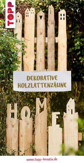 Dekorative Holzlatten-Zäune (kreativ.kompakt) #zaunideen