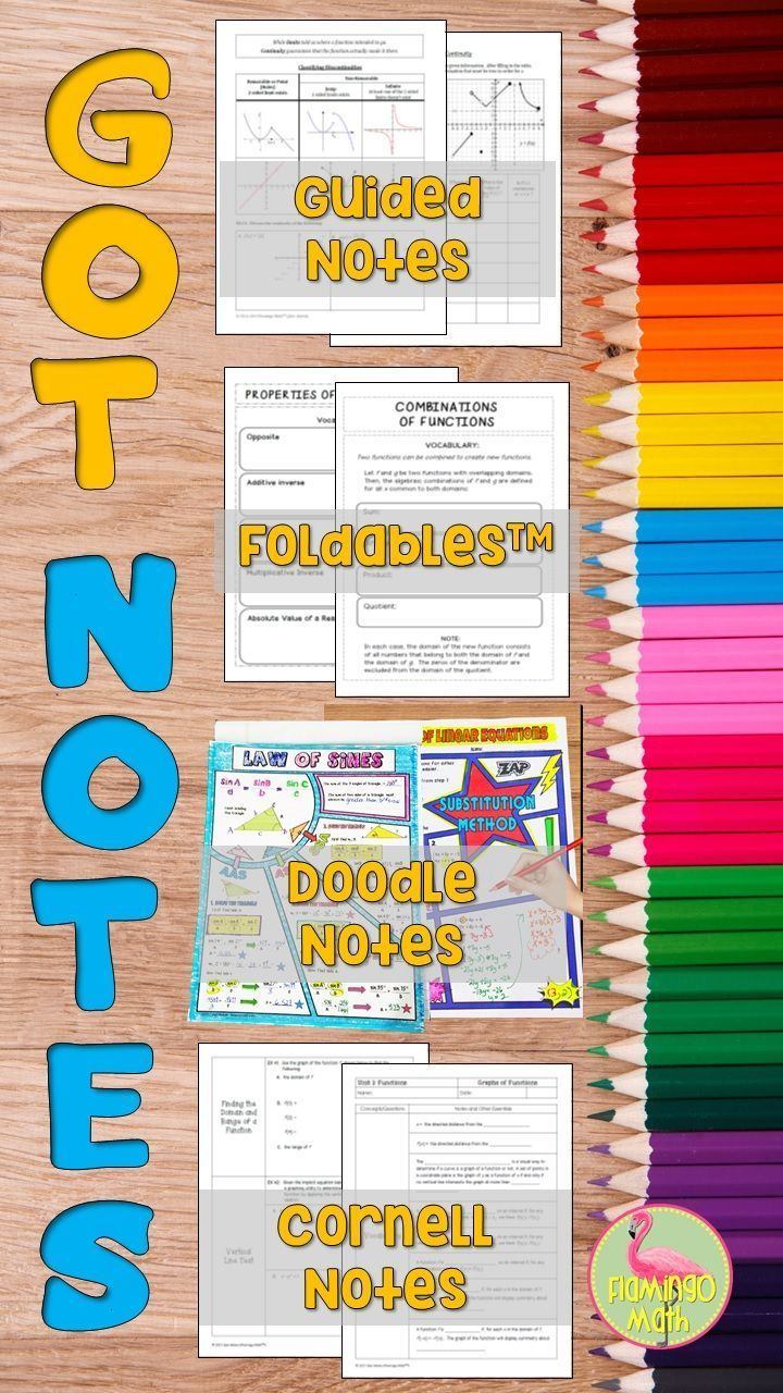 What Note-Taking Format Works Best for Your Students? | Math Ideas
