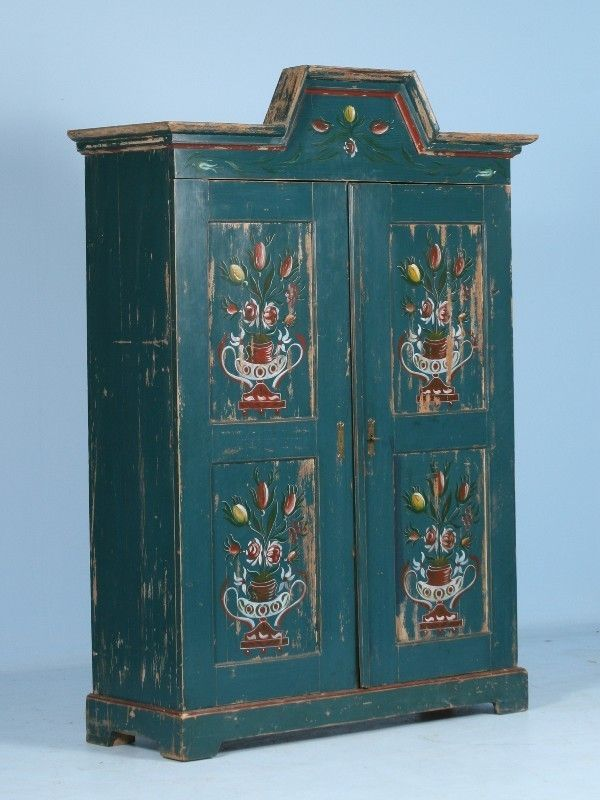 Swedish Hand Painted Blue Armoire Circa 1900 Scandinavian Antiques Co Antique Armoire Antiques Entertainment Furniture