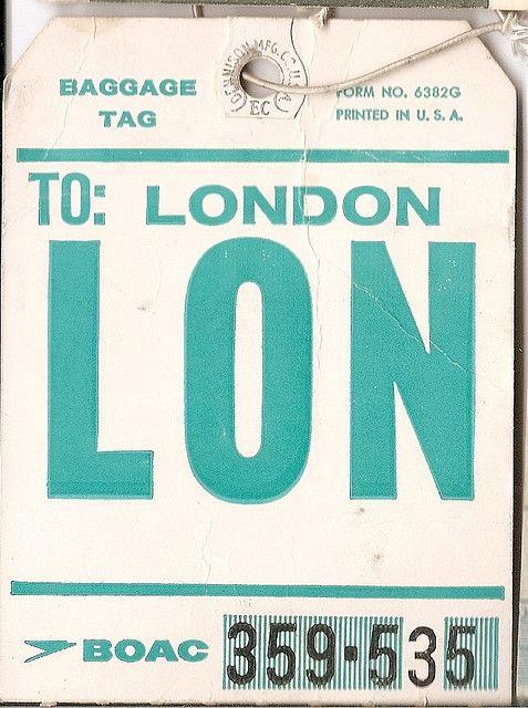 Boac Lon London In 2018 Tickets Please Pinterest