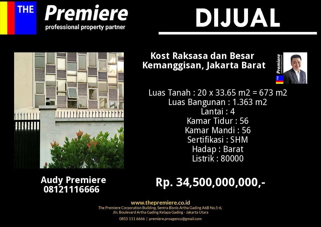 Dijual Rumah Kost Raksasa di Kemanggisan Jakarta Barat # ...