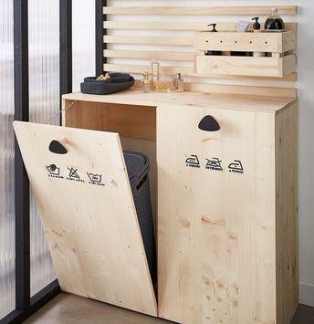 DIY  Créer un meuble buanderie pour la salle de bains Leroy