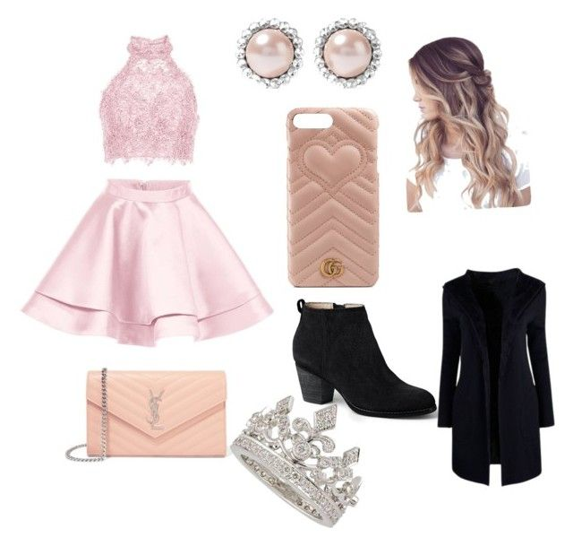 """""""Untitled #16"""" by maribeltheflower on Polyvore featuring Alyce Paris, Lands' End, Yves Saint Laurent, Gucci, Garrard and Miu Miu"""