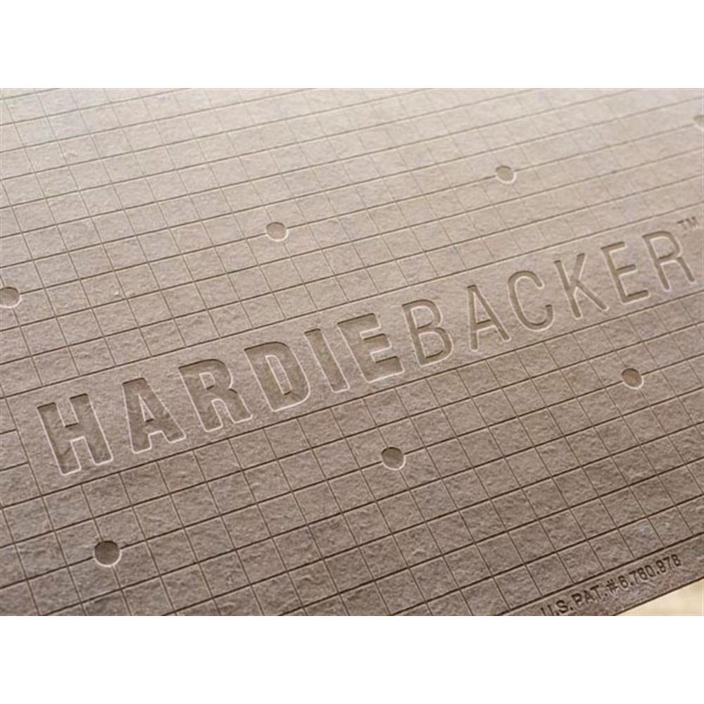 James Hardie Hardiebacker 3 Ft X 5 Ft X 1 4 In Cement Backerboard 220022 The Home Depot In 2020 Backerboard James Hardie Diy Fireplace