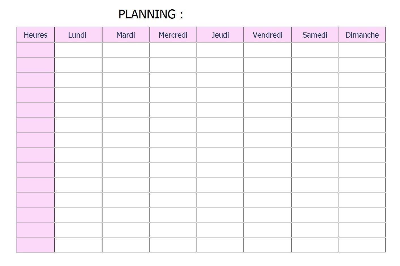 Calendriers Gratuits A Imprimer Ou Consulter Planning Gratuit Modele De Planning Planning Semaine