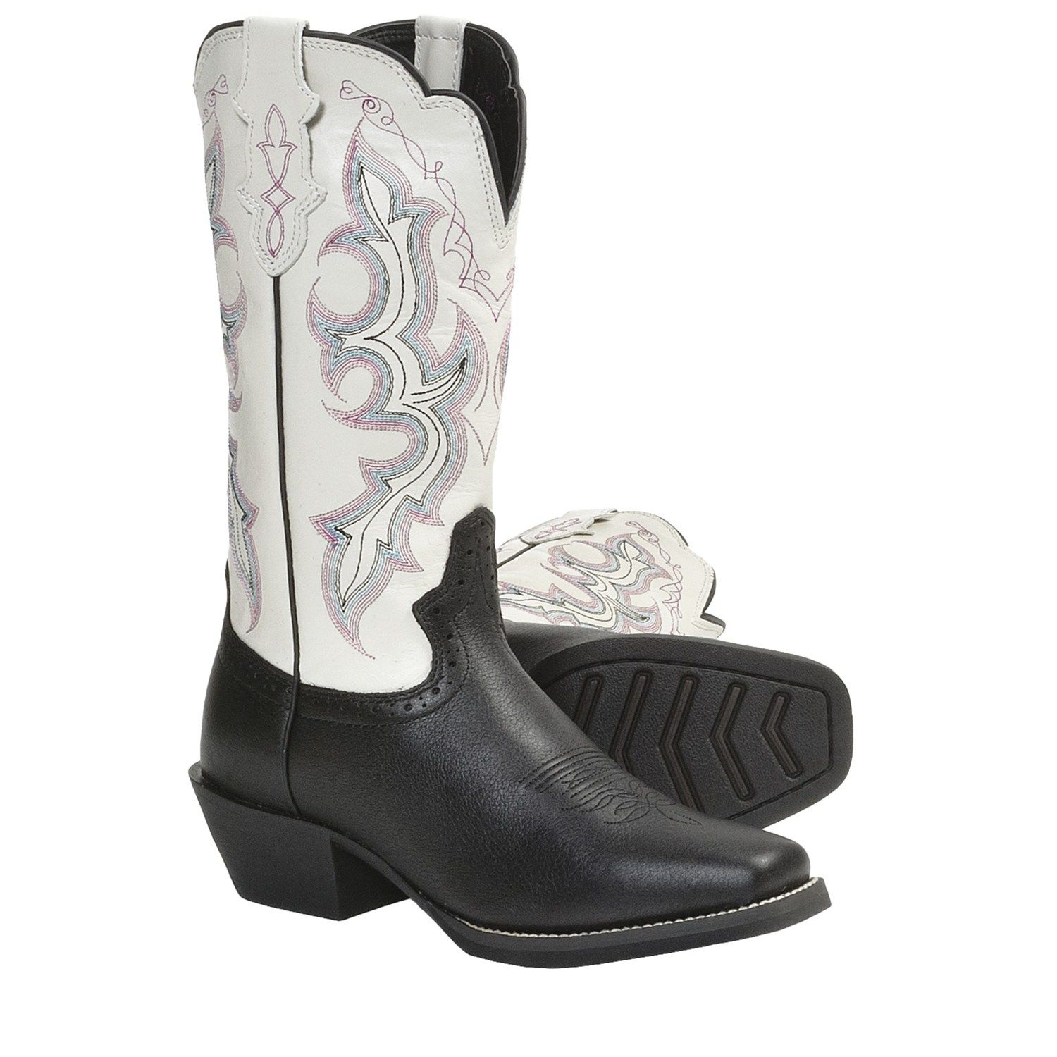 ca804e9e870 Justin Boots Stampede Punchy Cowboy Boots - Leather, Square Toe (For ...