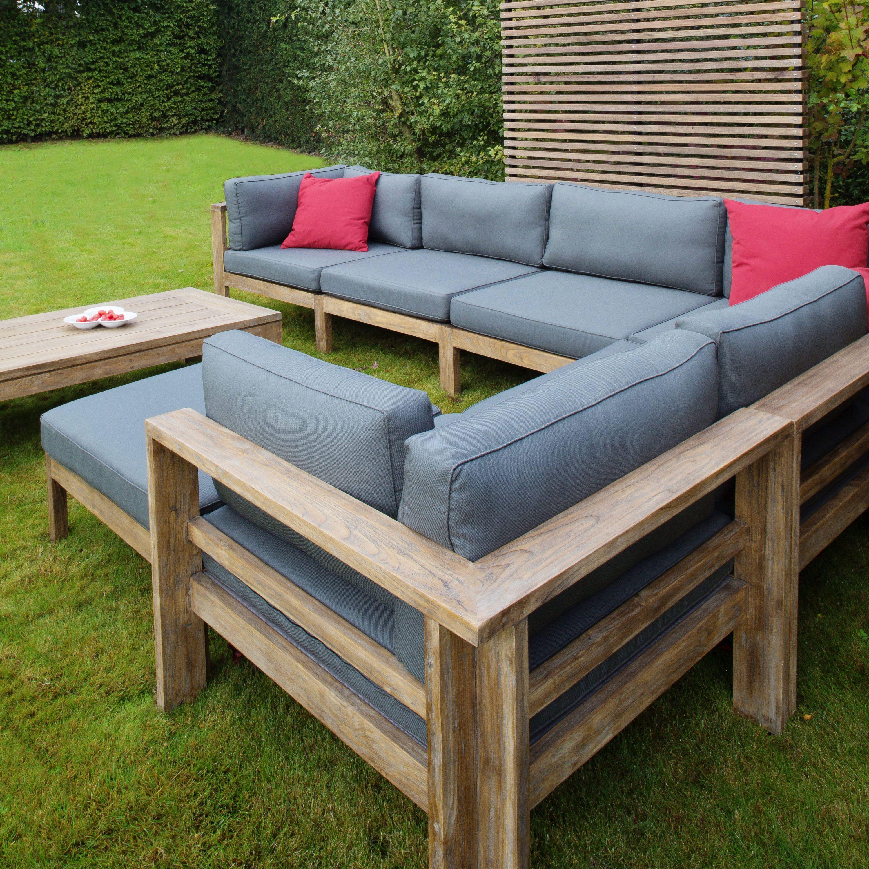 Dark Teak Outdoor Sectional Arizona Patio Furniture Home Couture Miami Teak Patio Furniture Grey Sofa Set Furniture