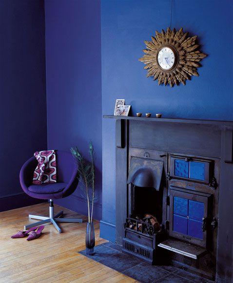 Peinture Cuisine Deco: Bleu Monaco, La Couleur Tendance Pour Le Salon, La Chambre