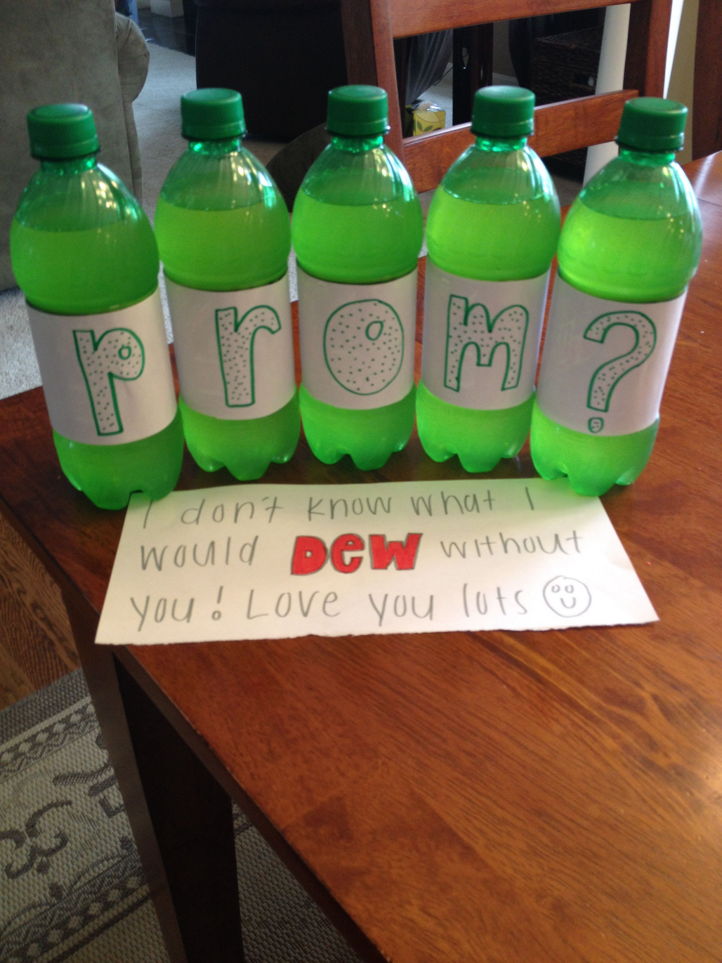 promposal for my boyfriend who loves mountain dew | prom in 2018