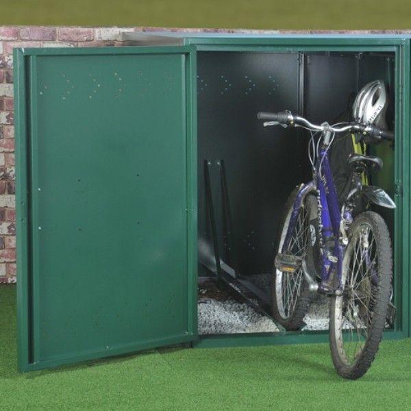 Asgard Metal Security Shed Single Bike Locker Metal Shed