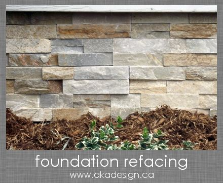 Foundation refacing how to cover a cinder block - How to cover exterior cinder block walls ...