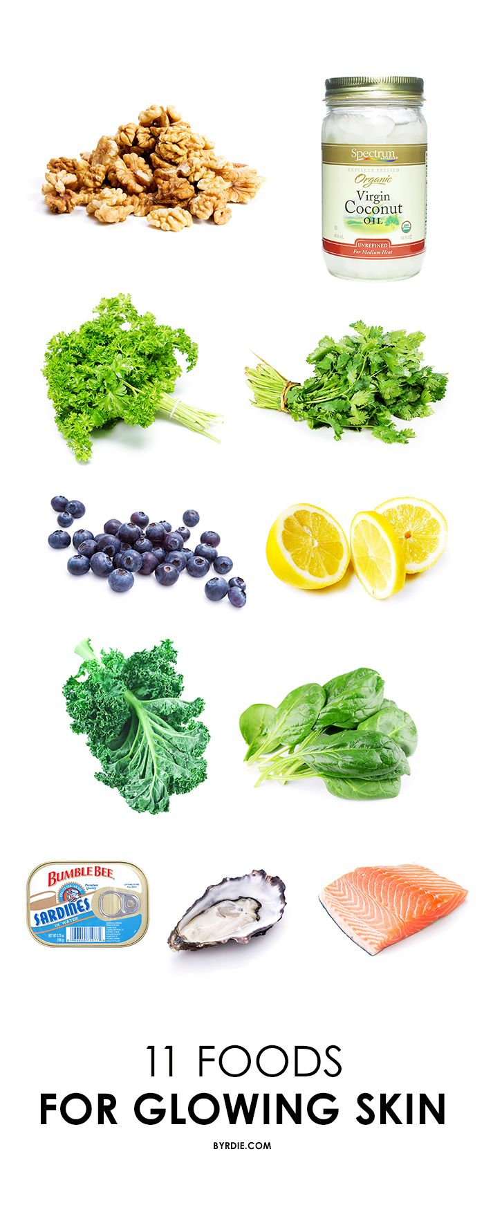 The Glowing Skin Shopping List 11 Foods To Add To Your Cart Food For Glowing Skin Foods For Healthy Skin Healthy Glowing Skin