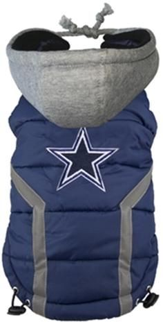 Dallas COWBOYS NFL dog Jacket (Puffer Vest) in color Blue - Daisey s Doggie  Chic 501288e6b