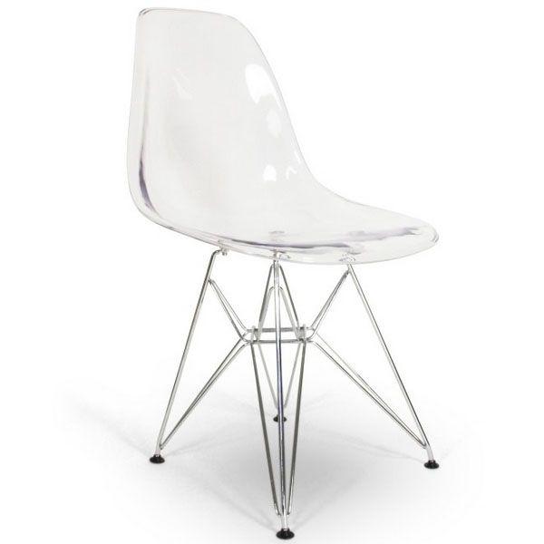 Chaise Eames DSR Style Transparent 89EUR