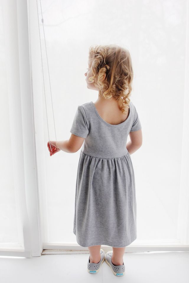 Ballet Back Knit Dress Tutorial | kids clothing | Pinterest ...