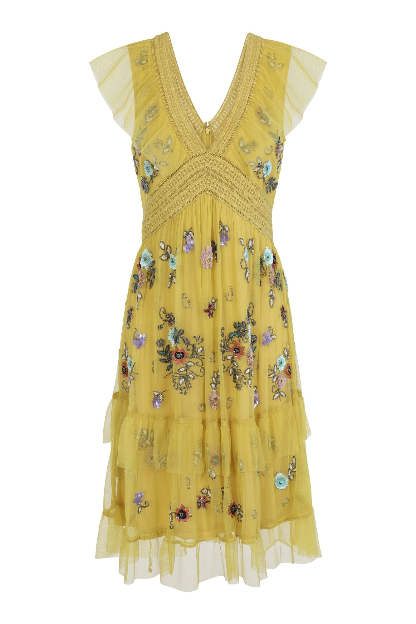 cd5dc7c03bac2 Gabby Embellished V Neck Dress in 2019 | S/S 19 Collection | Dresses ...