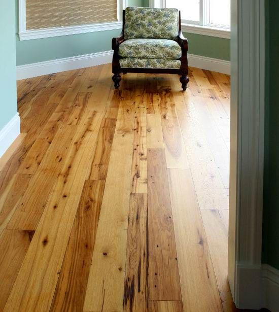 Reclaimed Wood Floors Are Full Of Character Which May Include Worm