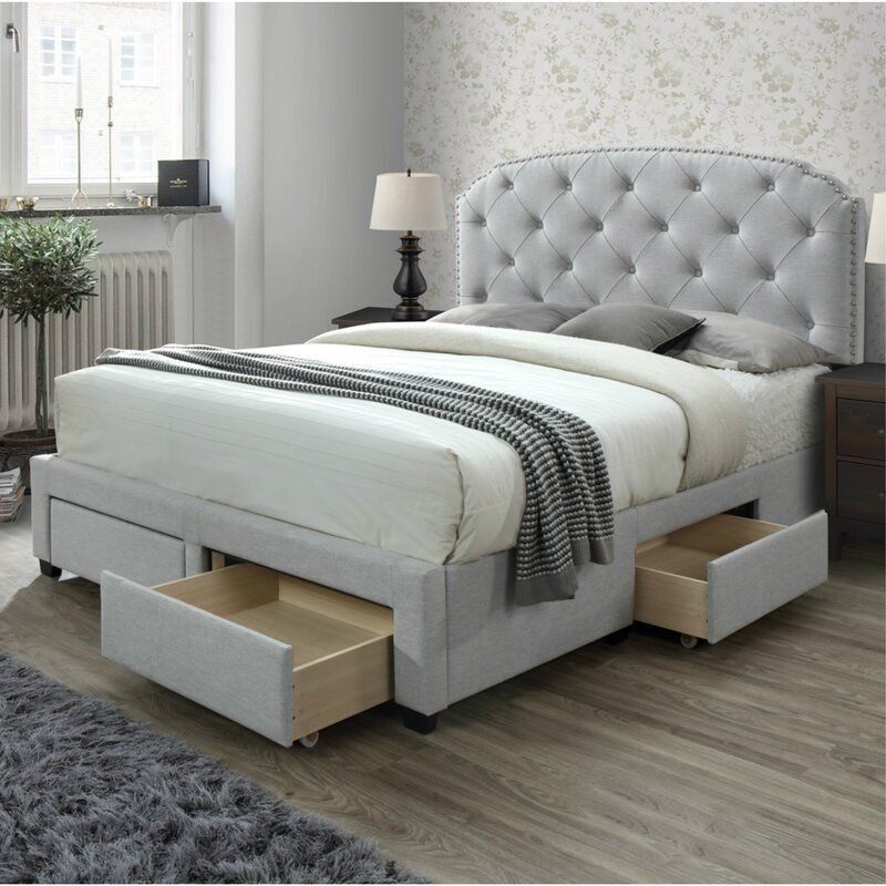Abbingt Upholstered Storage Standard Bed Bed Frame With Storage King Size Storage Bed Queen Size Storage Bed