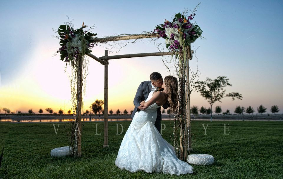 Bamboo Arch by House of Flowers Bakersfield, Ca. Bamboo