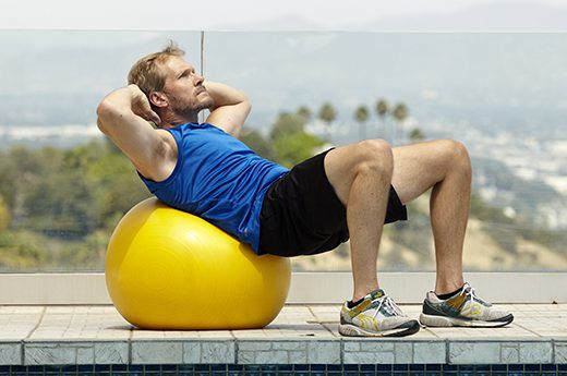 Exercise improving sex on gym ball