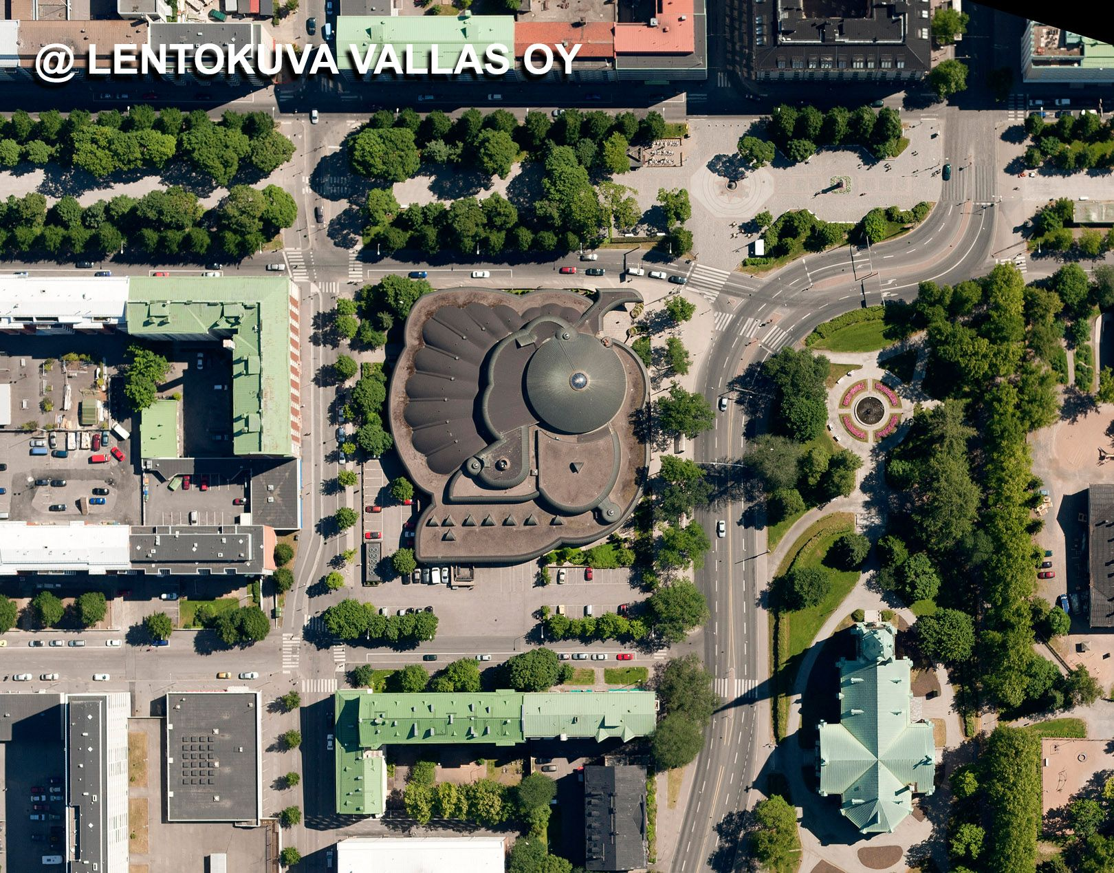 Tampereen Metso-kirjasto Ilmakuva: Lentokuva Vallas Oy | Tampere ilmasta