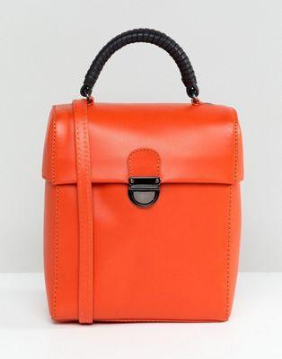 d02402ef02 DESIGN - Sac bandoulière en cuir avec fermoir | sélection shop shop ...