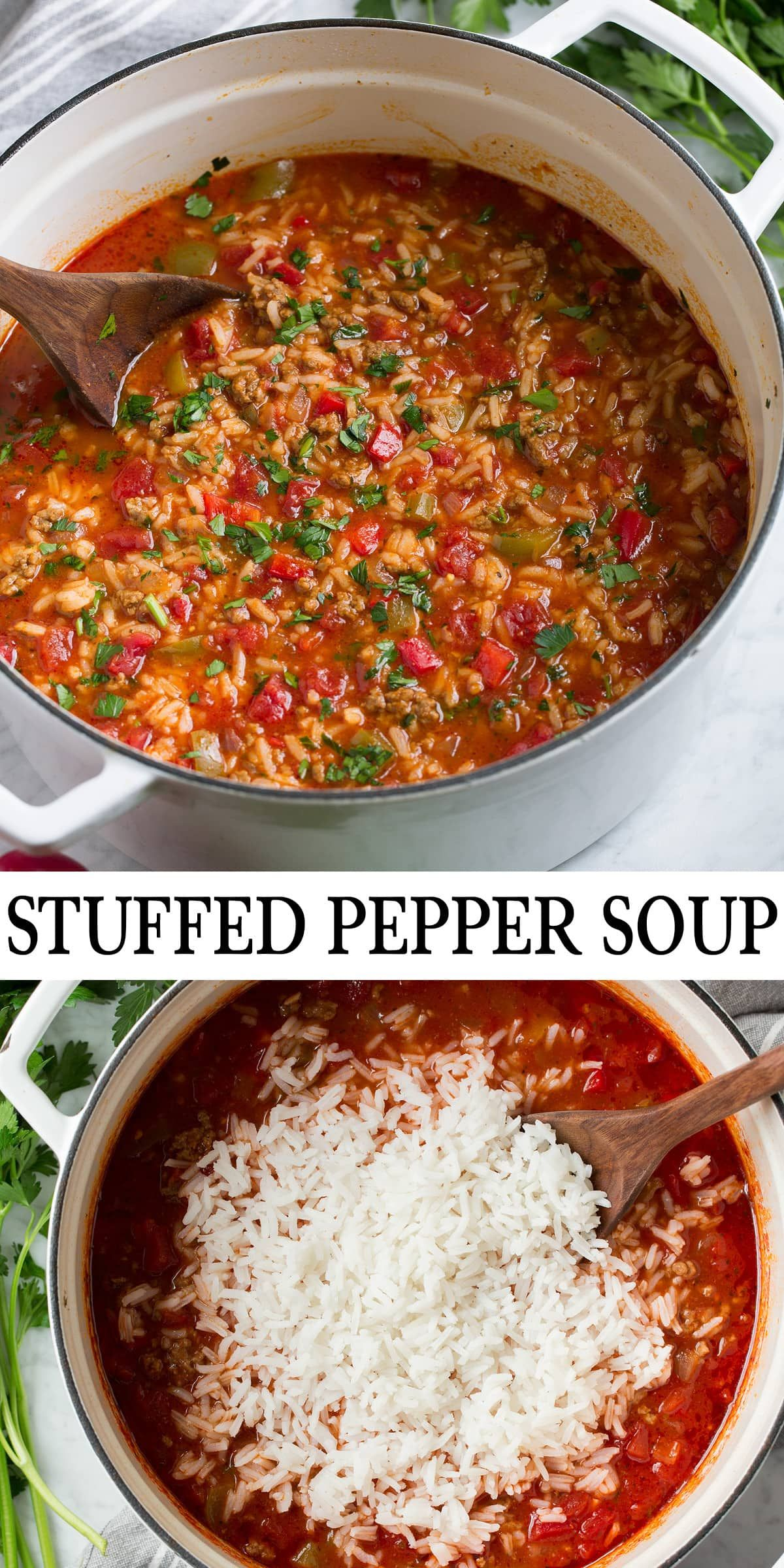 Stuffed Pepper Soup An Easy Hearty And Comforting Stuffed Pepper Soup That S So Easy To Make And Something In 2020 Stuffed Peppers Stuffed Pepper Soup Soup Recipes