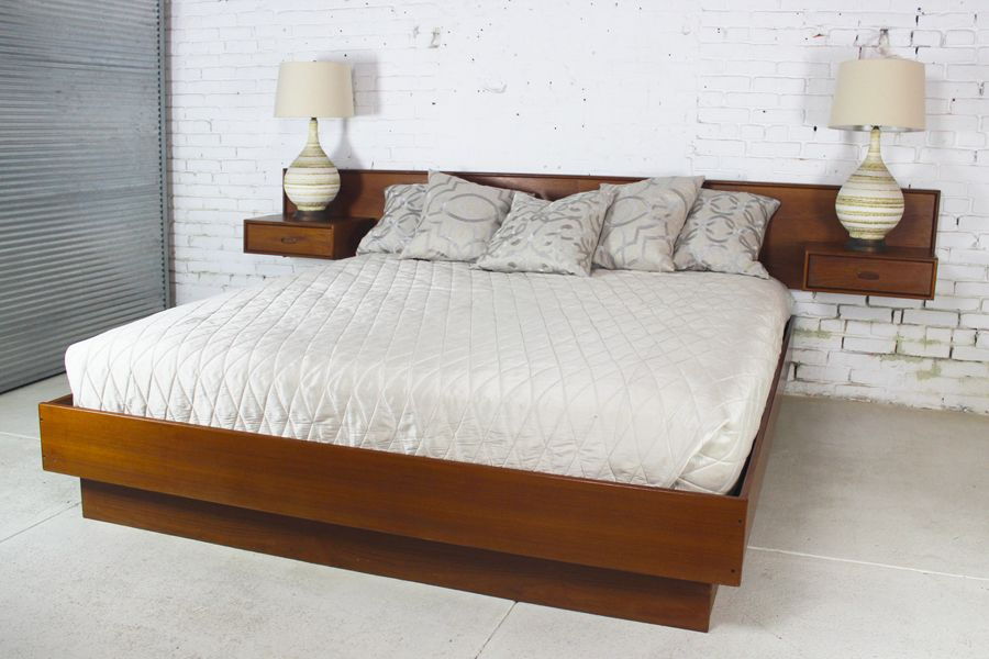 Bedroom Magnificent Platform Bed With Nightstands Attached Sol With Magnificent Bedside Table Ideas For Your Bed Magni King Platform Bed Wood Bed Design Bed